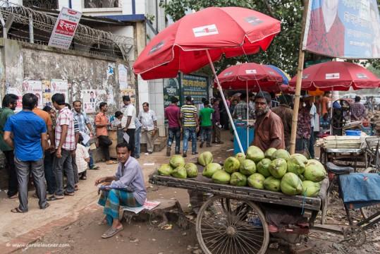 Typische Strassenszene in Dhaka