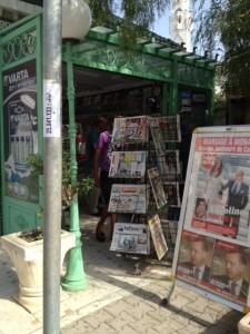 Zeitungskiosk in Tunis