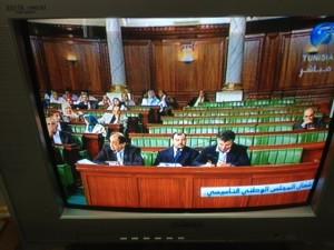 Parlamentsdebatte im öffentlichen Fernsehen