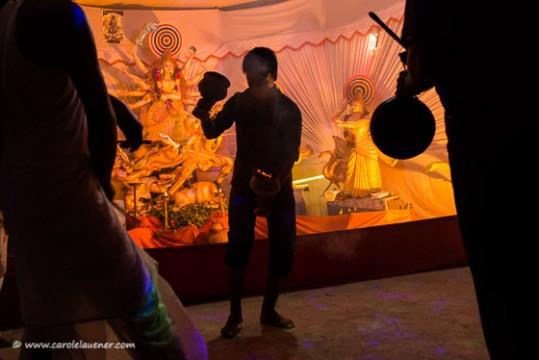 Tanzdarbietung zu Ehren von Durga