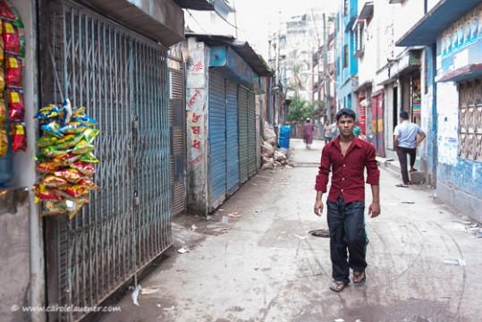 An Hartal bleiben auch in meinem Quartier in Moghbazar viele Läden geschlossen...