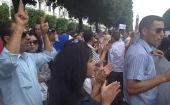 Demonstration gegen die Regierung