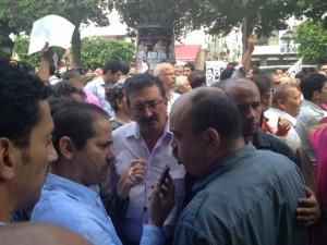 Gewerkschafter an der Demonstration