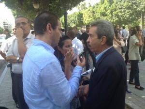 Chokri Belaïds Bruder im Gespräch mit einem TAP Reporter