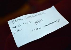 Mein offizieller Tagespass für das Film Southasia Festival.