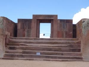 Auf den Stufen des Kalasasaya-Tempels in Tiwanaku erfolgte 2006 die symbolische Amtseinführung von Evo Morales.