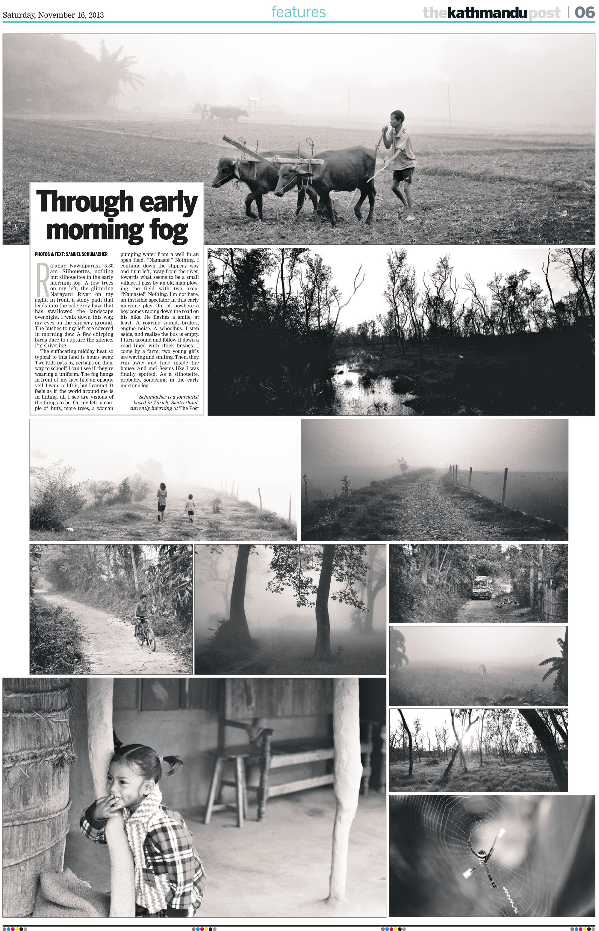 """Through Early Morning Fog"": Foto-Essay mit Bildern aus der Nähe des Chitwan Nationalparks."