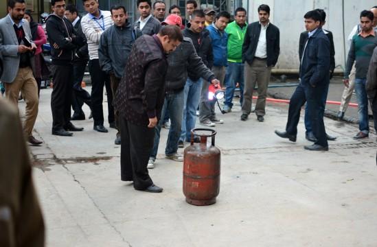 Corpus delicti: der Gaskanister wäre beinahe explodiert.