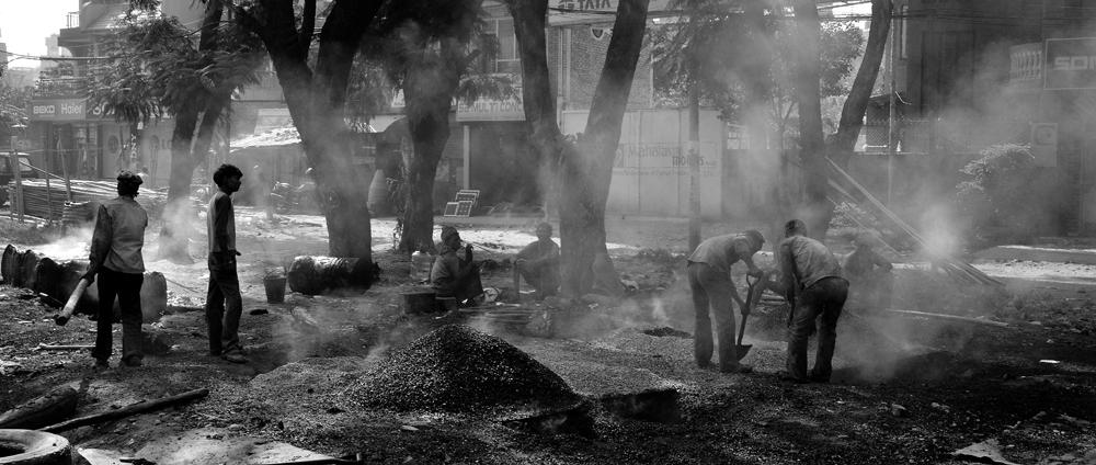 Indische Teerarbeiter in Ekantakuna. IV