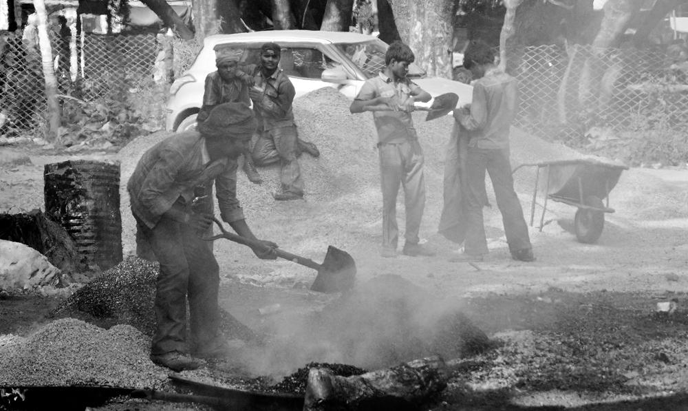Indische Teerarbeiter in Ekantakuna. I