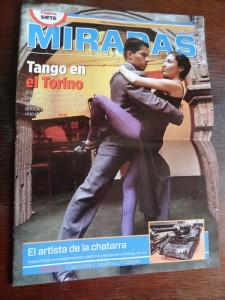 Mein Artikel über den Tango in La Paz ist der Aufmacher des Magazins.