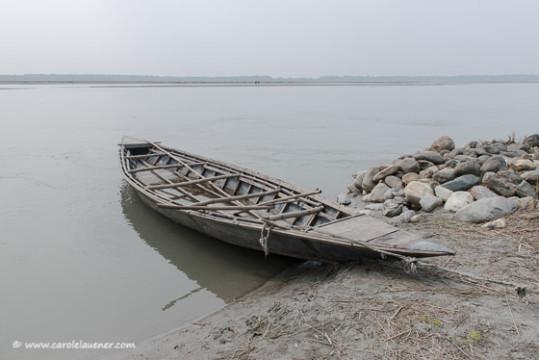 Am Teesta River in der bangladeschischen Enklave Dohogram-Angorpotha