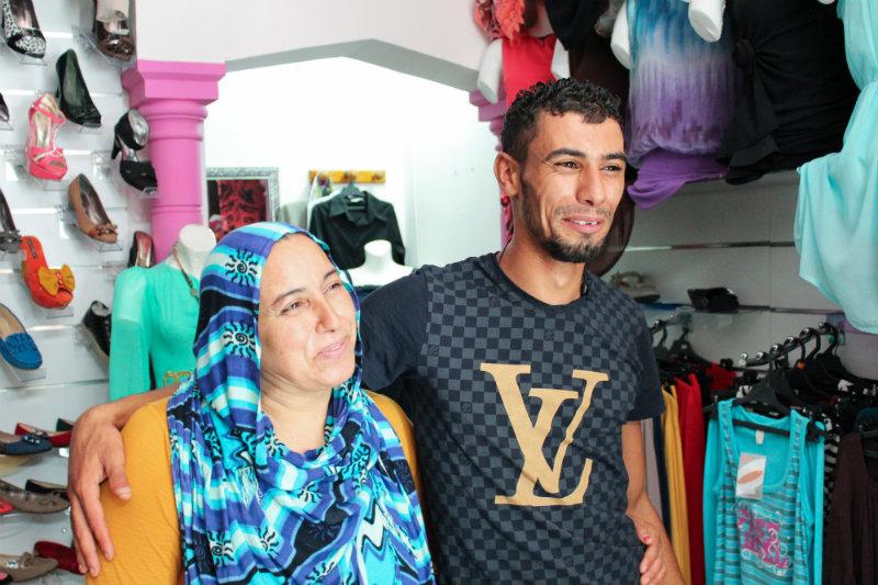 Wissem Hiraoui et sa maman.
