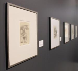 Plus d'une trentaine de dessins, d'aquarelles et de peintures sont présentées.