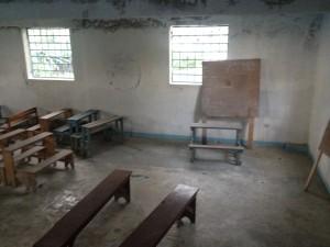 La salle de classe de la Fondation des Soeurs rédemptrices de Nazareth