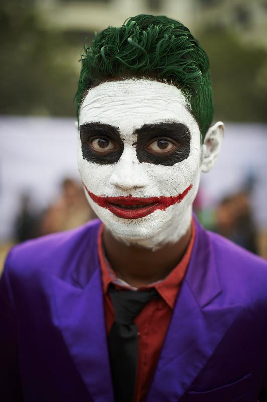 """""""Why I this scar? Go and watch the movie.."""" Wenn man der Joker ist, darf man sich auch eine solche Antwort zur Jury erlauben"""