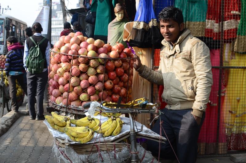 Velohändler in Kathmandu
