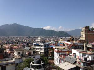 Über den Dächern Kathmandus