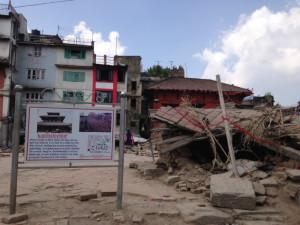 Das Erdbeben hat den Kasthamandap-Tempel zerstört.