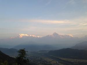 Die Annapurna-Berge; rechts der Machapucharé, das «Matterhorn Nepals».