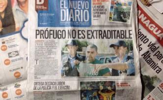 """Dieser Mann soll in Costa Rica ein Tötungsdelikt verübt haben -  wie er heisst und woher er kommt kann man auf der Titelseite des """"Nuevo Diario"""" nachlesen."""