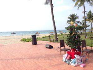 Weihnachten in Ngwe Sang am Golf von Bengalen. (Bild: Samuel Schlaefli)