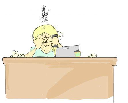 Skizze von Eva Hirschi im Büro von Frontier
